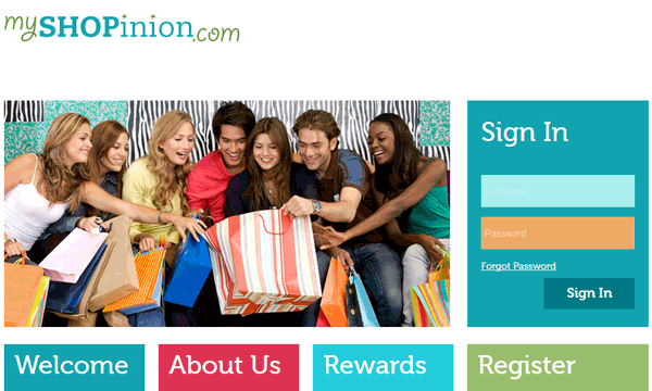 MyShopinion website