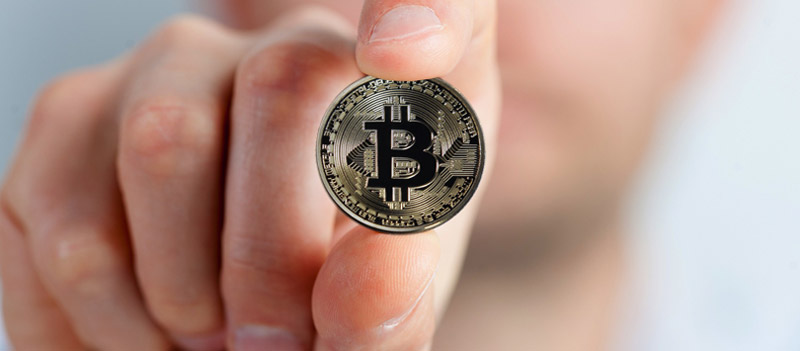 Holding a bitcoin