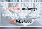 PrizeRebel bonus