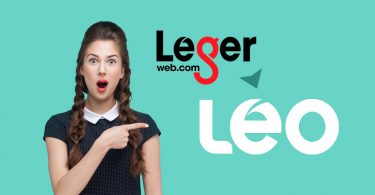 LegerWeb Becomes Leo logos with woman