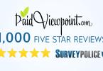 PaidviewPoint 1000 5 star reviews