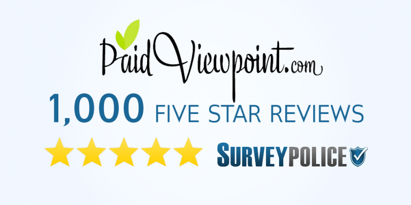 PaidviewPoint 1000 5 star reviews