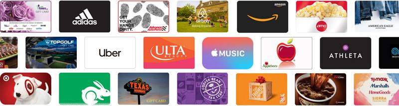 Reward Link e-gift cards
