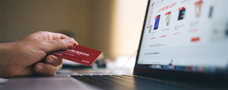 using credit card on website
