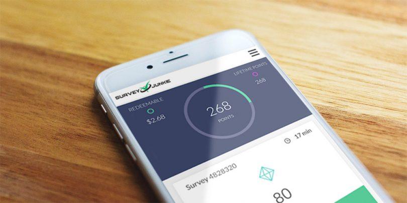 Survey Junkie App on Mobile Phone
