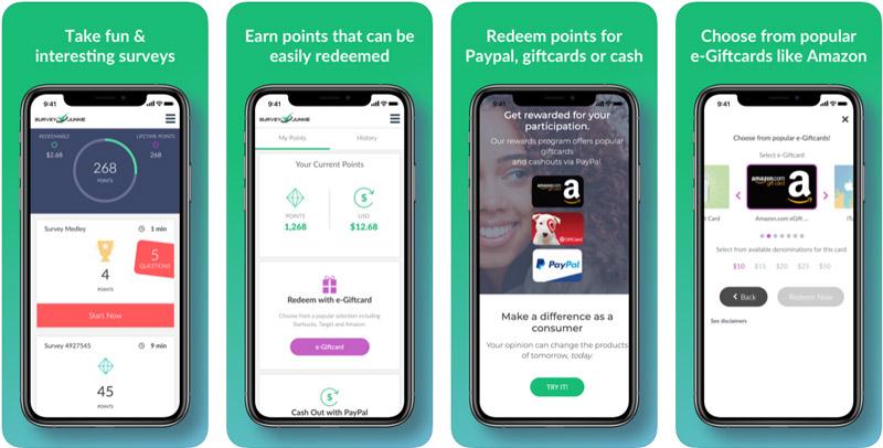 Survey Junkie Mobile App Screenshots