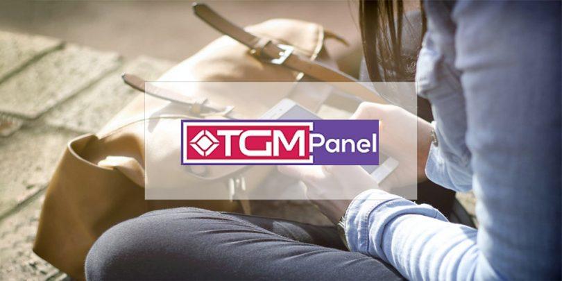 TGM Panel on woman's phone