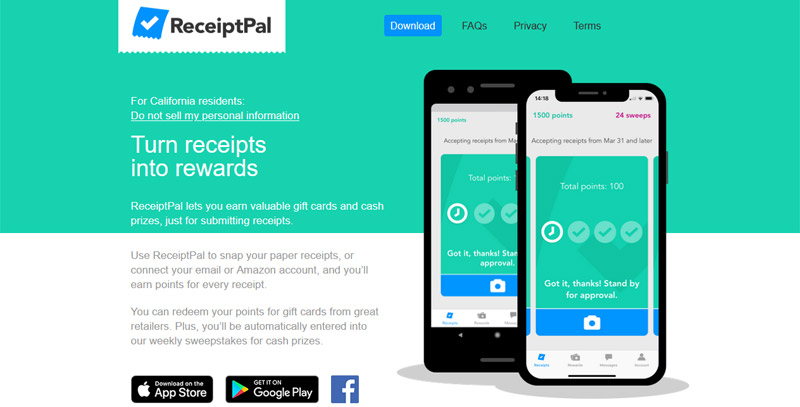 Receiptpal website