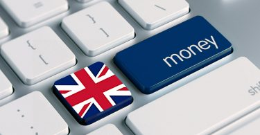 UK Money - Union jack on keyboard with 'money' key next to it