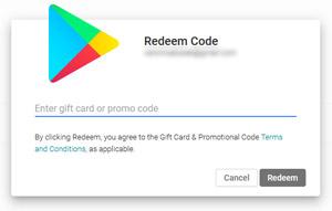 Riscattare la carta regalo Google Play
