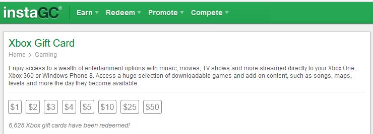InstaGC Xbox