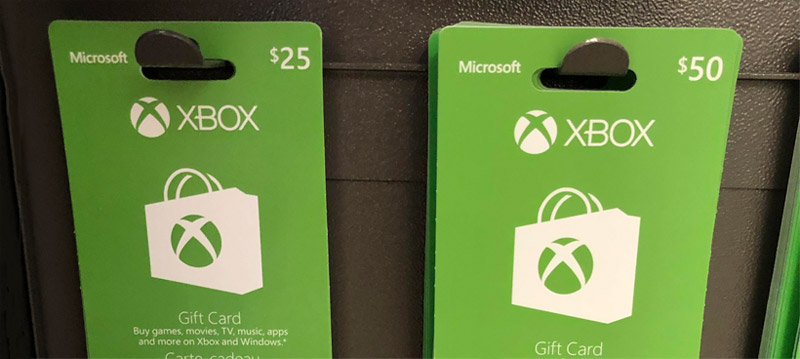Xbox gift cards for sale