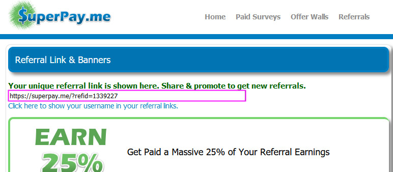 Superpayme referral page