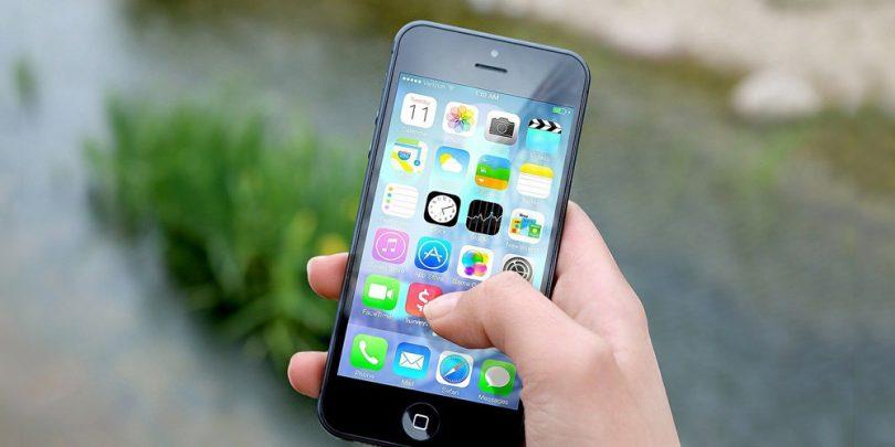 Mobile phone featuring a survey app