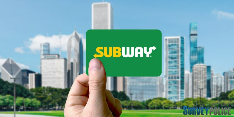 person holding subway gift card
