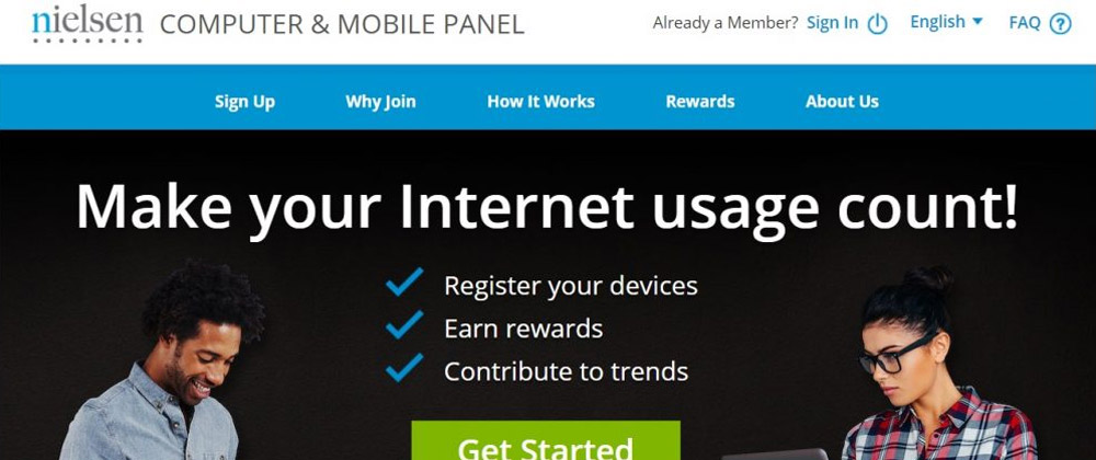 Nielsen Computer and Mobile Panel website