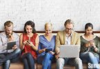 Survey company members using technology