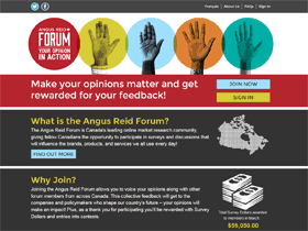 Screenshot angus reid forum