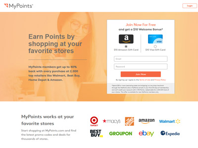 MyPoints website