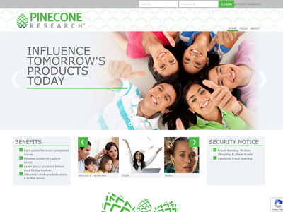 Pinecone Research website screenshot