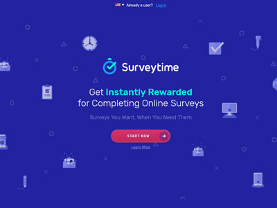 SurveyTime website screenshot