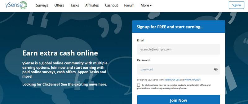 ysense website