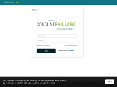 Consumer Village website screenshot