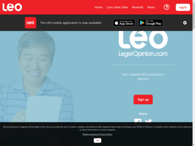 leo surveys website