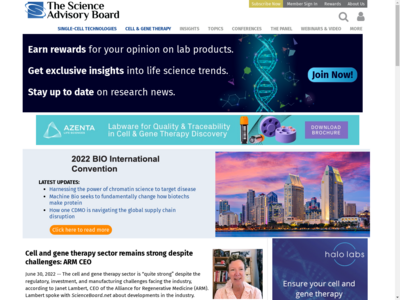 Science Advisory Board website screenshot