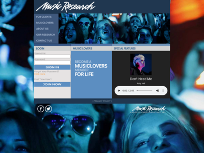 MusicLovers website screenshot