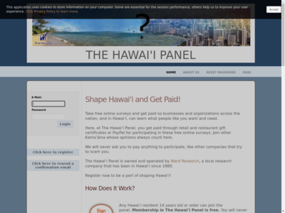 The Hawaii Panel website screenshot