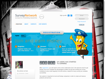 SurveyNetwork.co.uk website screenshot