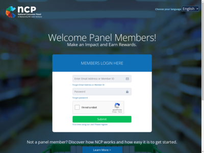 National Consumer Panel website