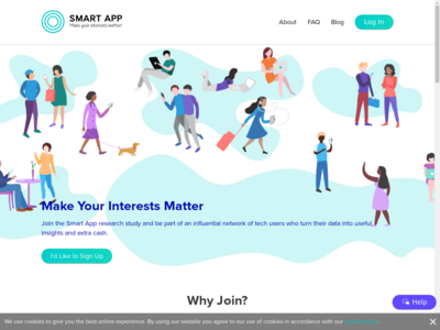Smart App website screenshot