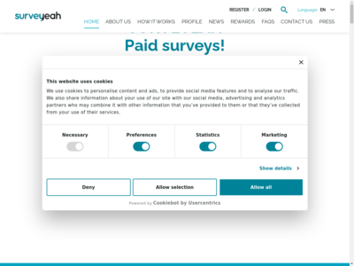 Surveyeah website screenshot