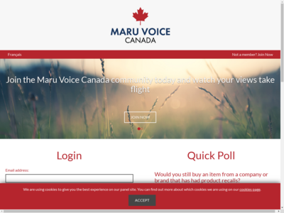 maru voice canada website