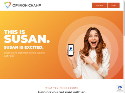 Opinion Champ website screenshot