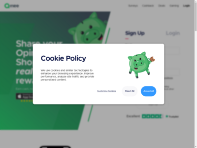 Qmee website screenshot