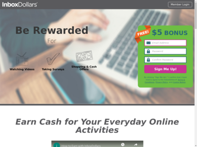 InboxDollars website screenshot