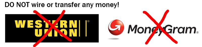 Do not wire money