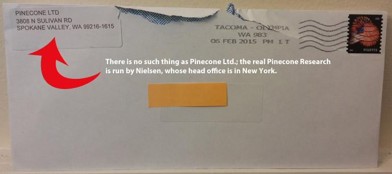 Pinecone Research envelope