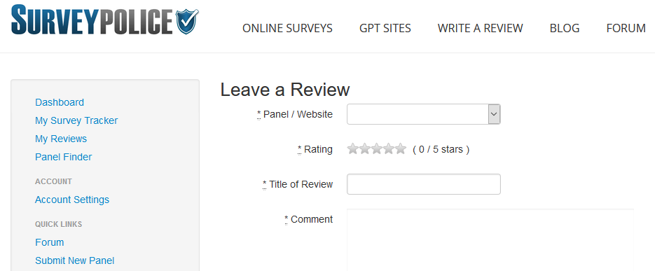 Leaving a review 4