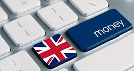 Keyboard with UK flag and money key